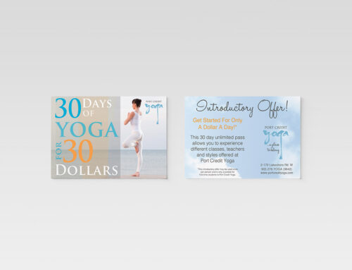 Promotional Postcards – Yoga Studio
