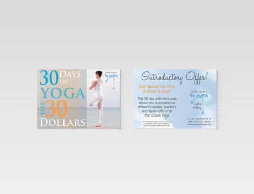 Promotional Postcards – Yoga Studio