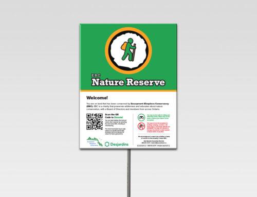 Signage – EBC Nature Reserve